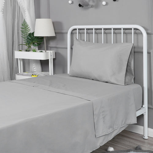 OUT OF STOCK - Soft Microfiber Twin Bed Sheets 3-Piece Set - Grey
