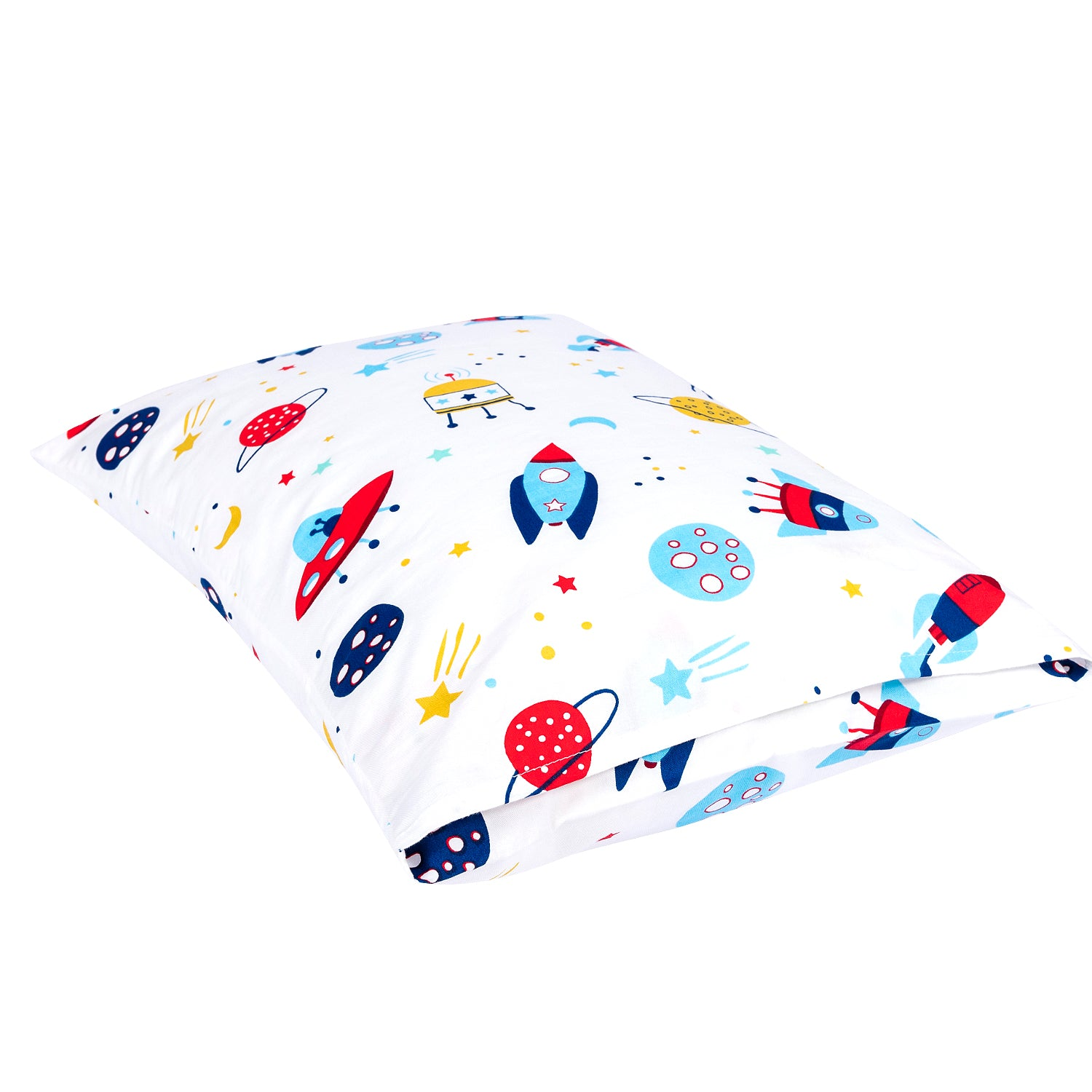 Cotton Toddler Pillowcases 2 PK - Space Theme