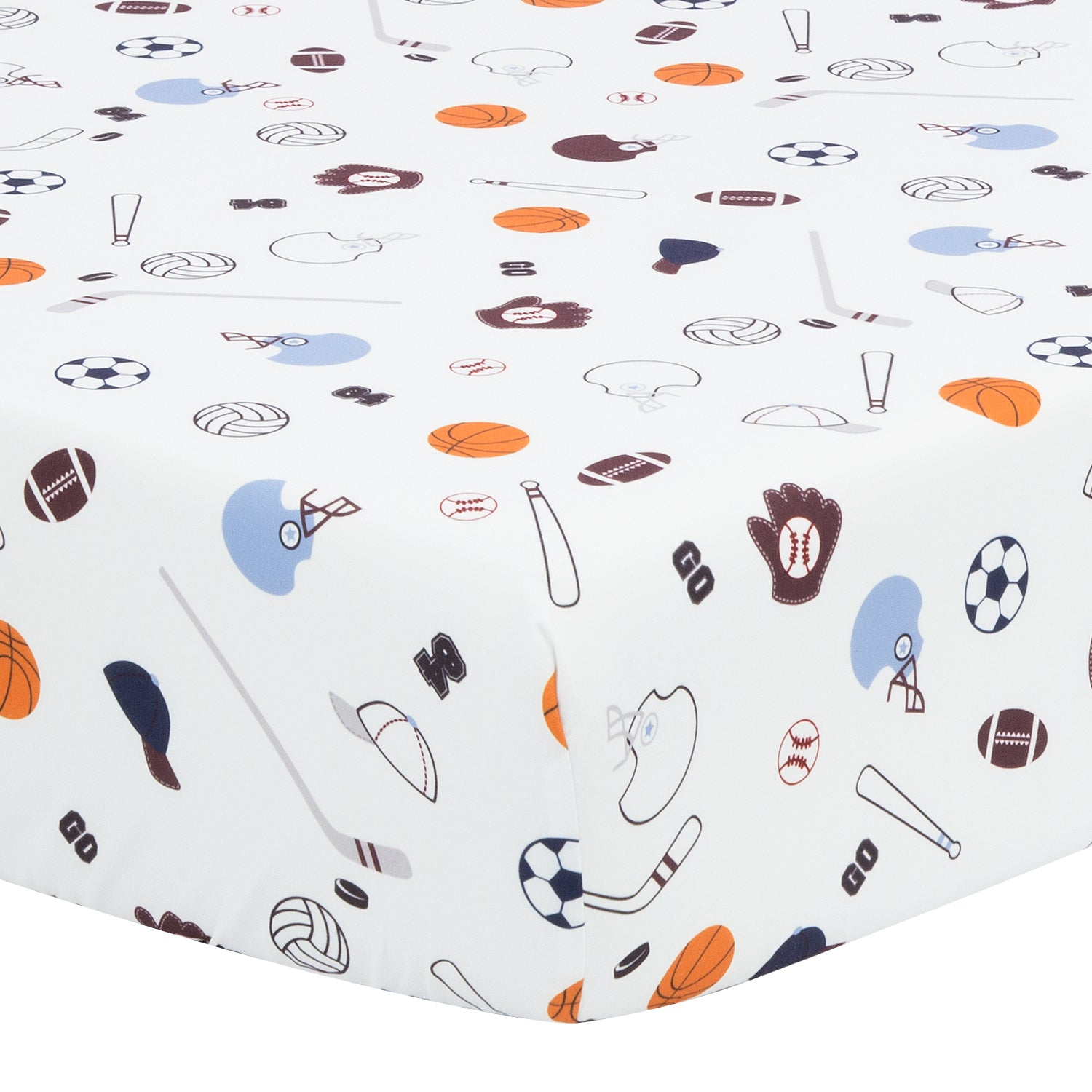 Microfiber Crib Sheet - Sports Theme
