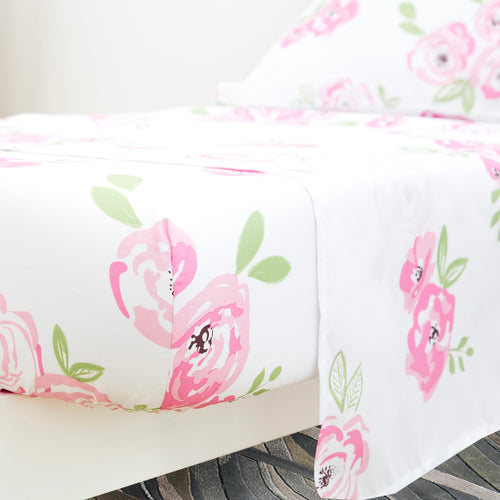 Toddler Microfiber 3-Piece Bedding Set - Floral