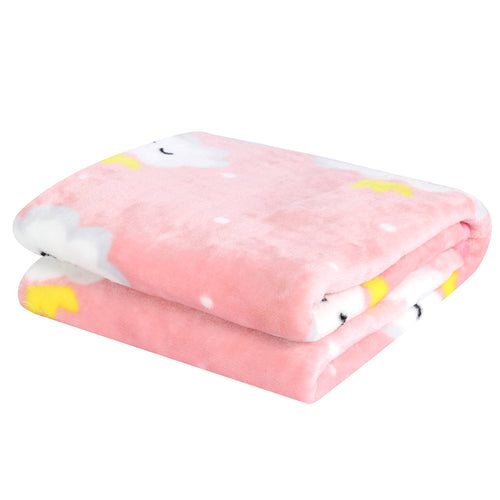 OUT OF STOCK - All-Season Flannel Fleece Baby Blanket - Pink Cloud