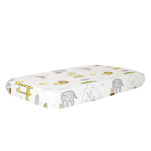 100% Cotton Crib Sheet - Animals Party