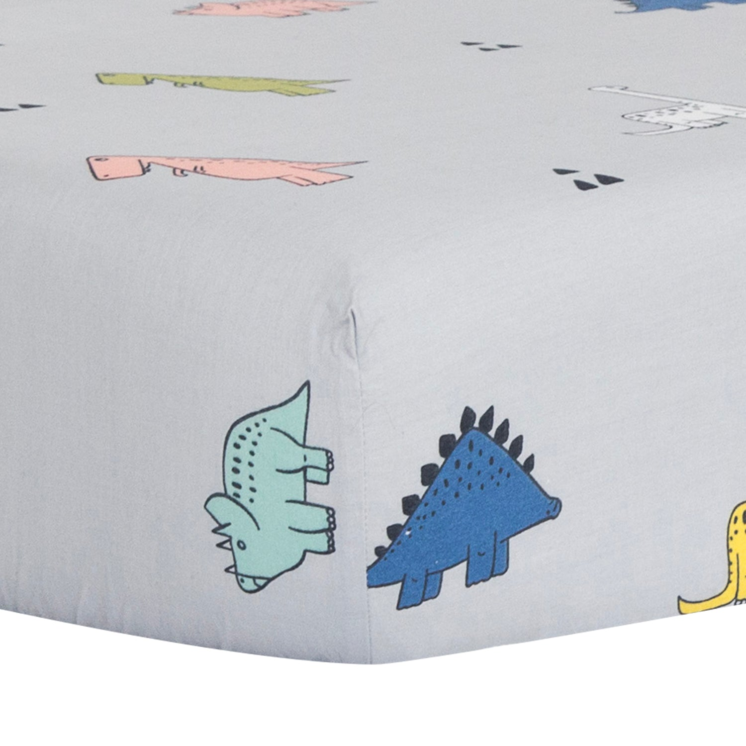 OUT OF STOCK - 100% Cotton Crib Sheet - Dinosaurs