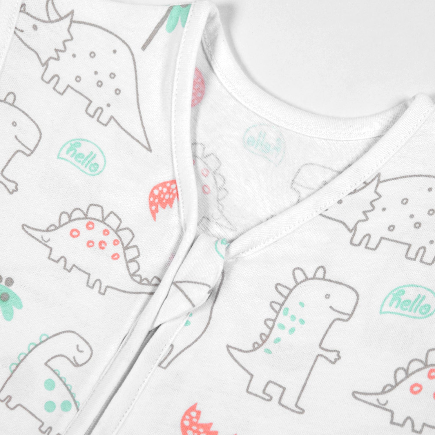 Cotton Wearable blanket / Sleeping bag - Woodland Dinosaurs