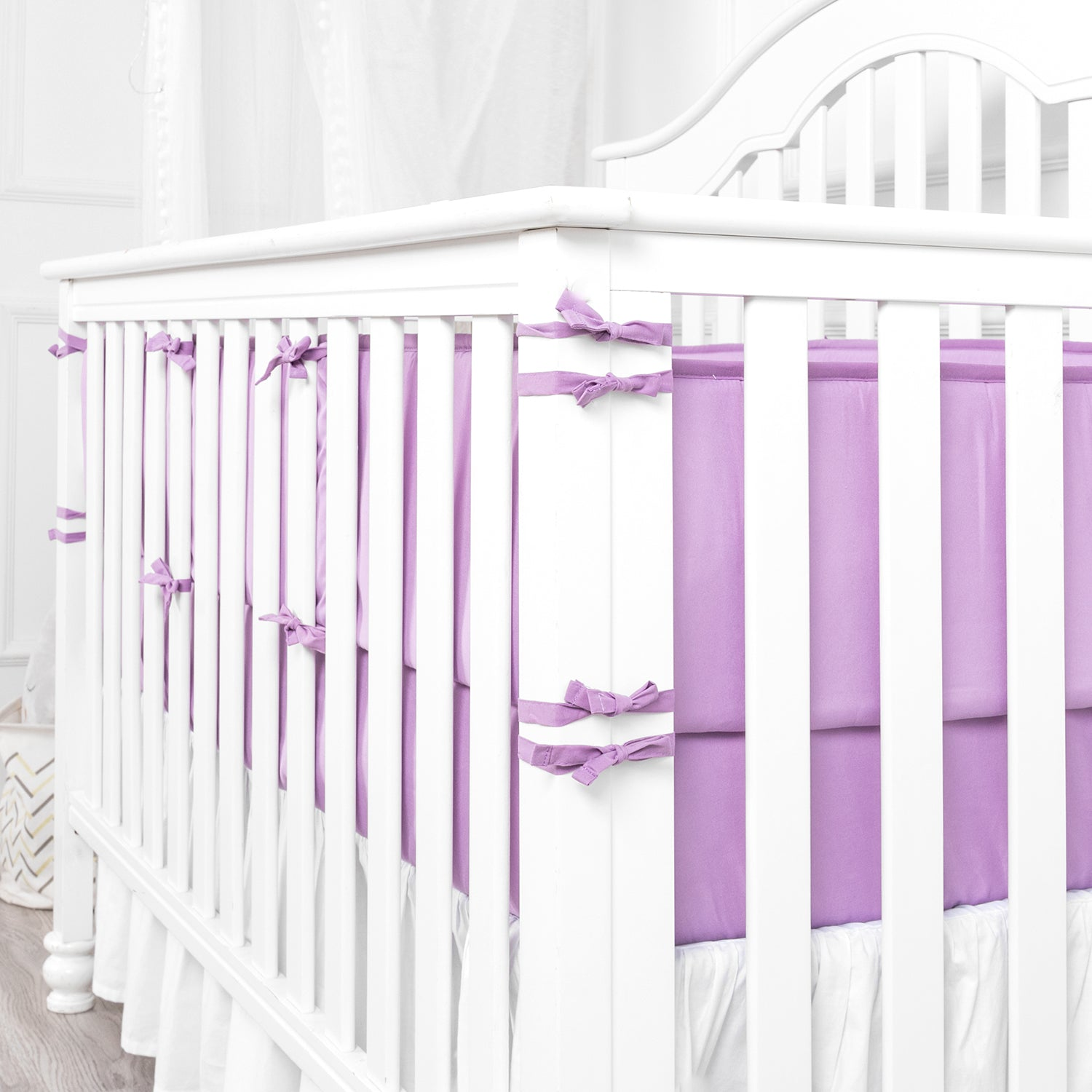 OUT OF STOCK -  Microfiber Crib Bumper Pad - Lilac