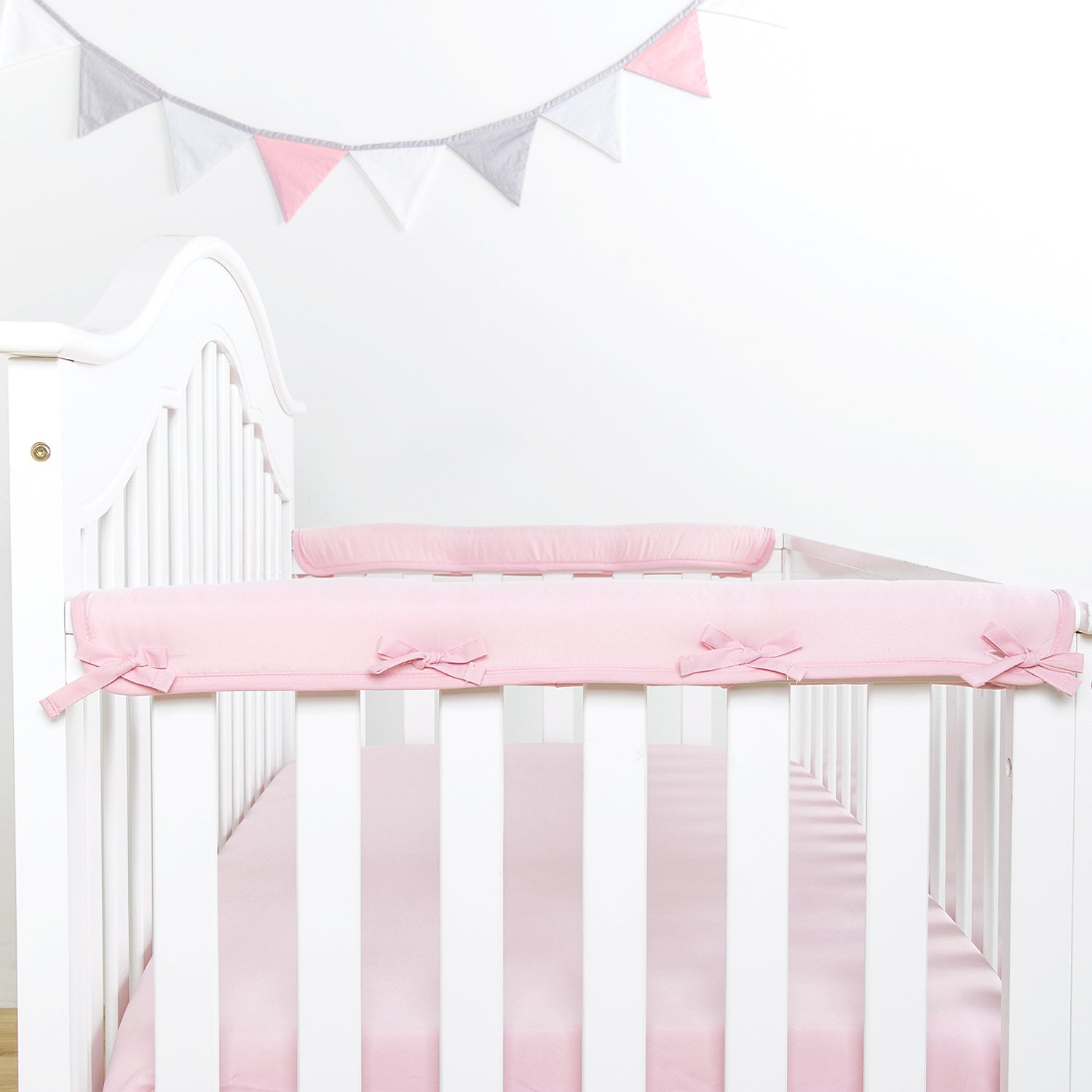 Narrow Side Crib Rail Cover Protector - 5 Colors