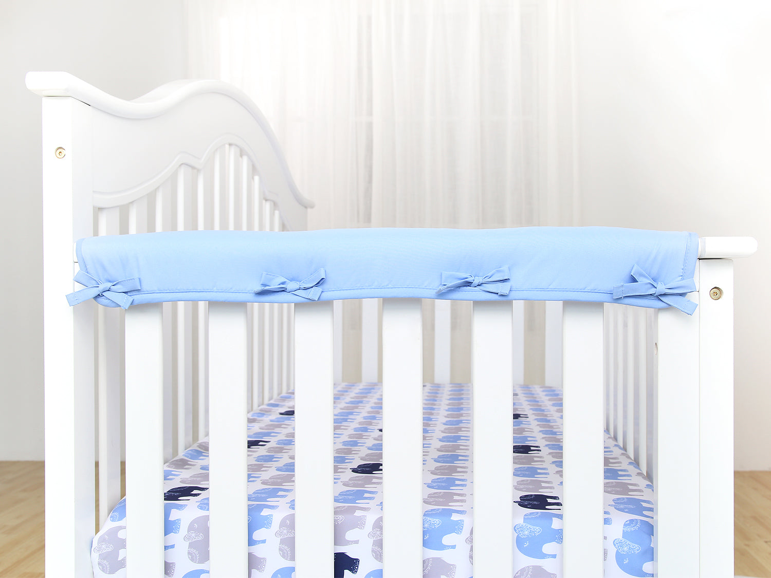 Narrow Side Crib Rail Cover Protector - 3 Colors