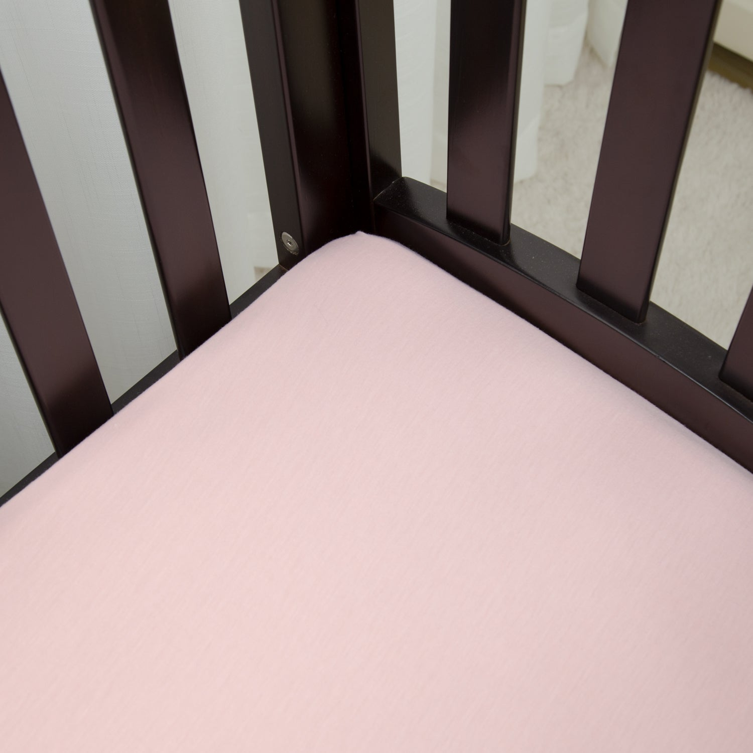 Jersey Knit Bassinet Sheet - Light Pink
