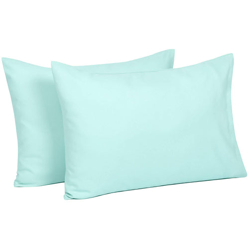 Toddler Travel Pillowcases Set of 2, 14x20- Fits Pillows Sized 12x16, 13x18 or 14x19 - Aqua