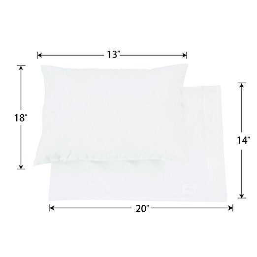 Ultra Soft Toddler Pillowcases 2 PK - White