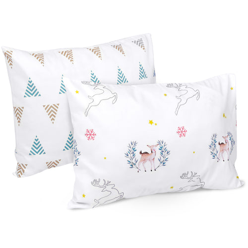 OUT OF STOCK - Microfiber Toddler Travel Pillowcases 2 PK - Woodland
