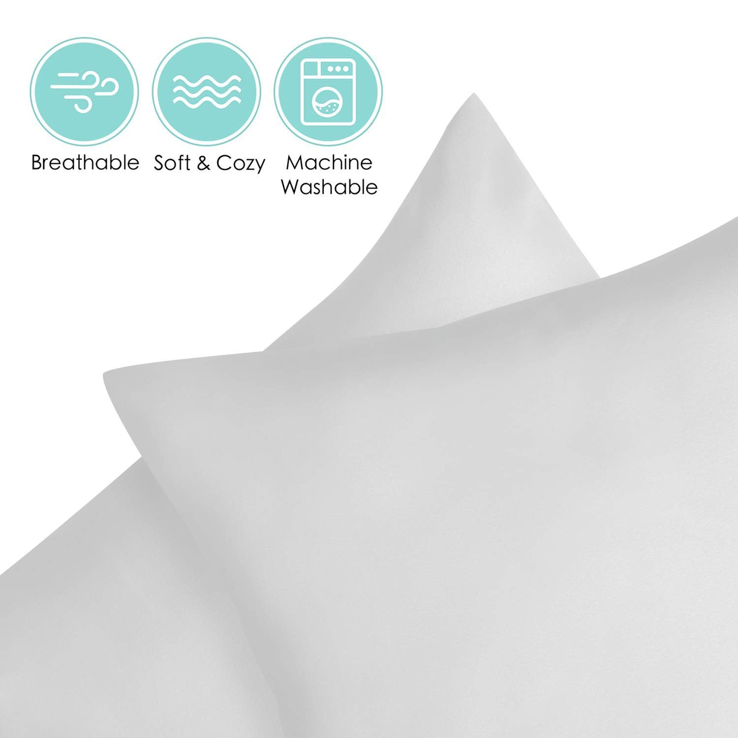 "2 Piece - Toddler Travel Pillowcases 14x20 "" Envelope Closure Pale Gray"