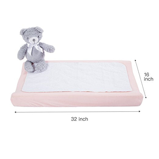 Jersey Knit Changing Pad Cover - Light Pink