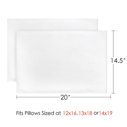 OUT OF STOCK - 2 Piece - Toddler Travel Pillowcases Set of 2  White -14x20""