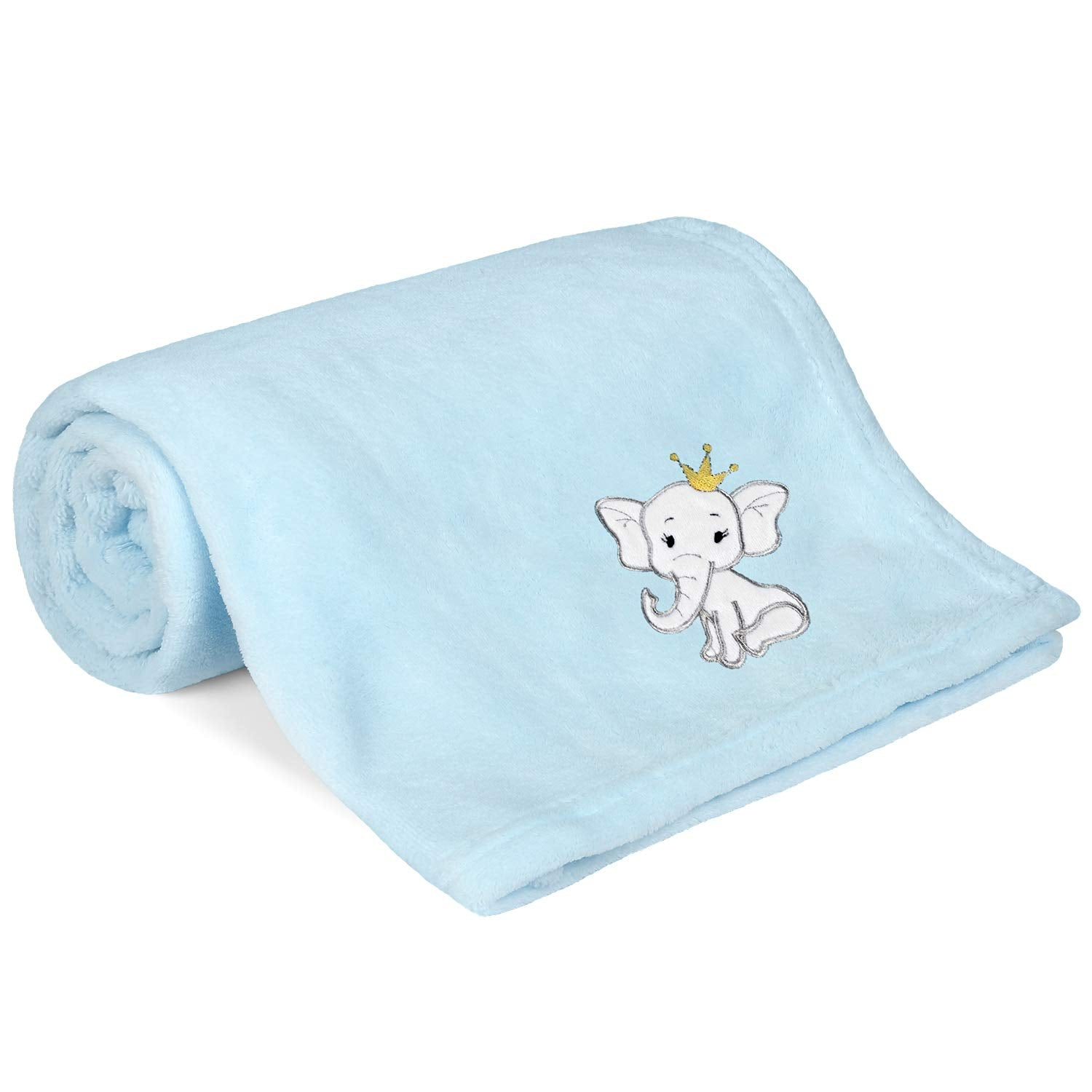 "All Season Coral Fleece Plush Baby Blanket 30"" x 40"""
