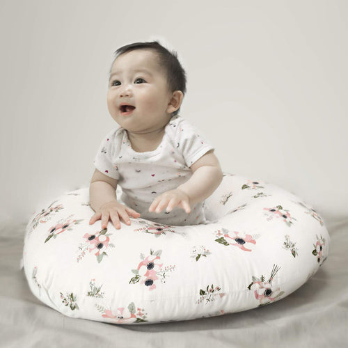 Large Zipper Nursing Pillow Cover,Floral