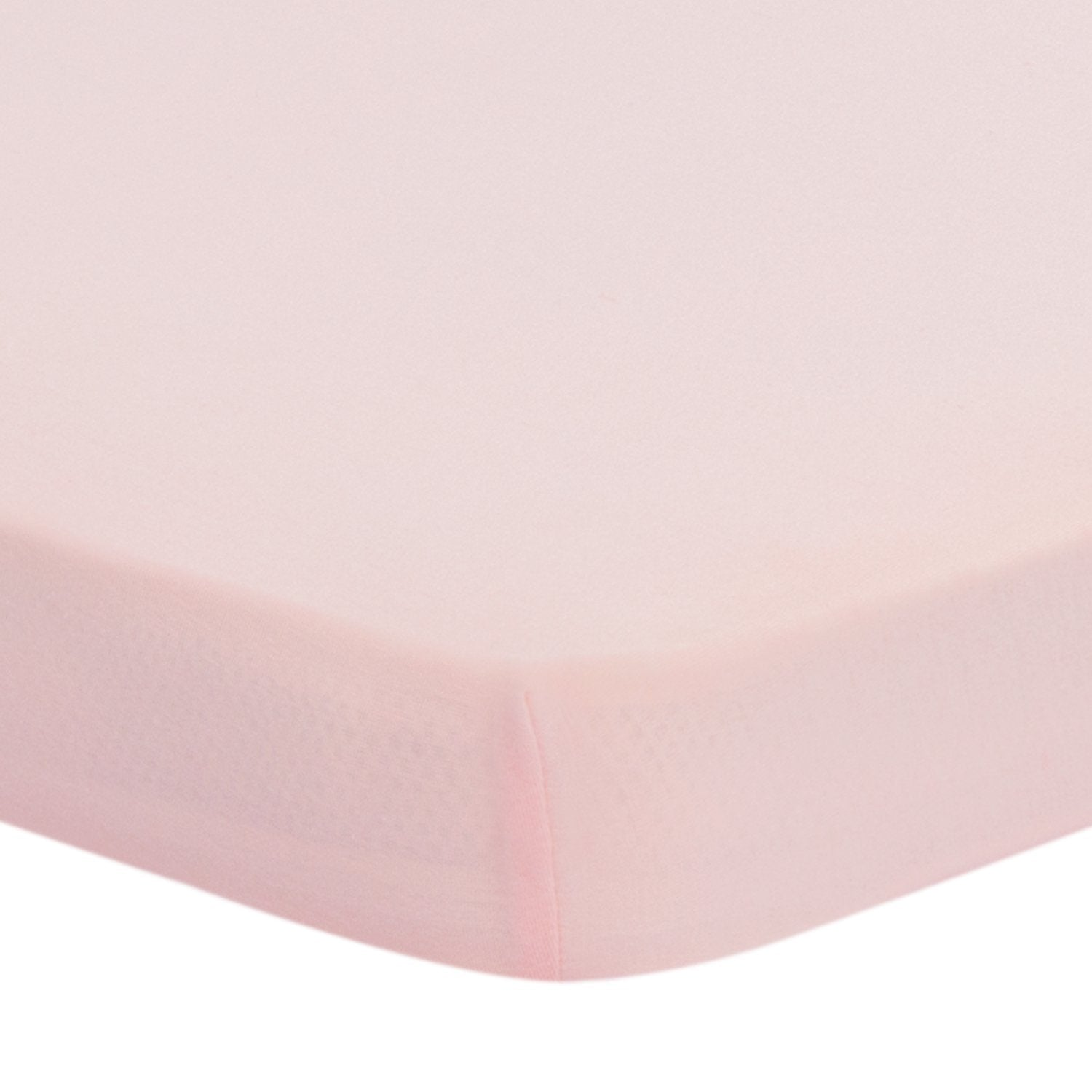 Jersey Knit Pack N Play Sheet Fitted 27'' x 39'' x 5'', Peachy Pink