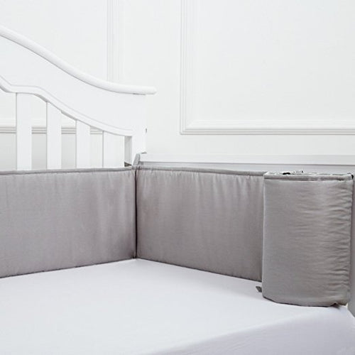 Whole Piece Gray Crib Bumper