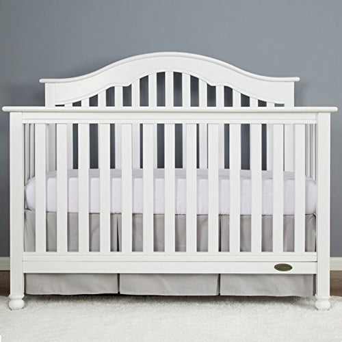 Pale Gray Cotton Crib Skirt Pleated