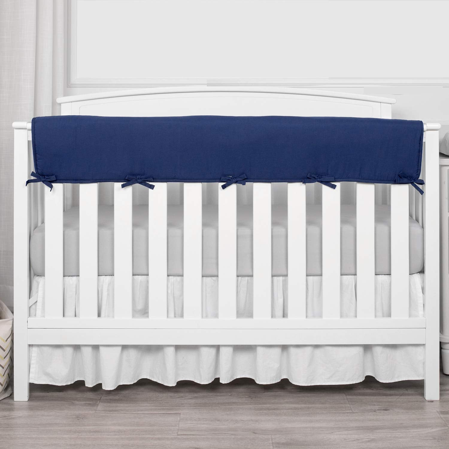 1-Pack Padded Baby Crib Rail Cover Protector Safe Teething Microfiber Polyester