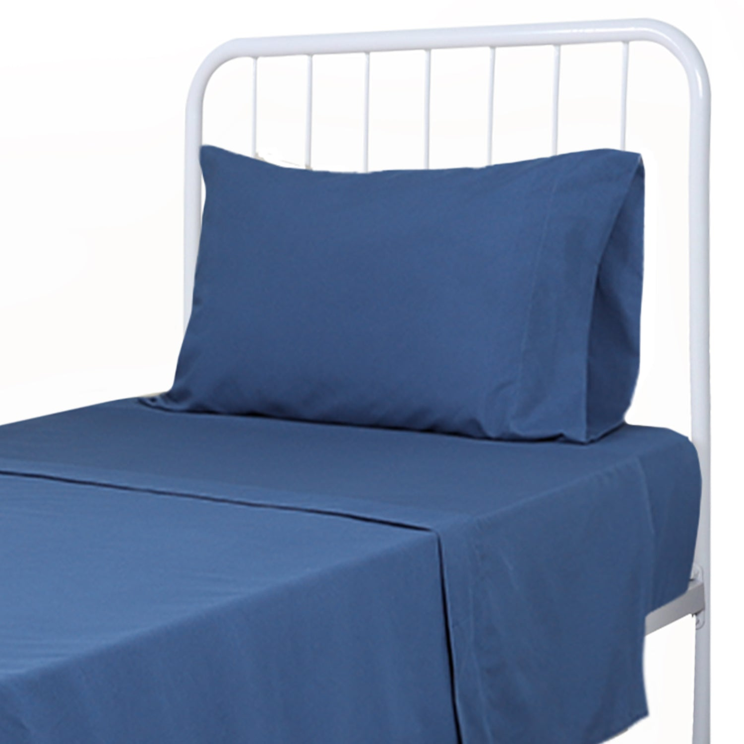 Soft Microfiber Twin Bed Sheets 3-Piece Set - Navy