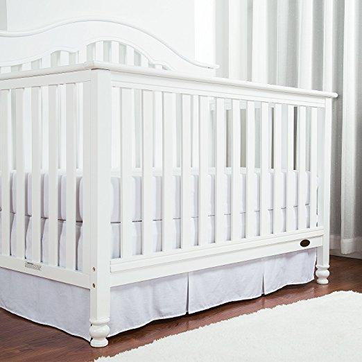 Pleated Cotton Crib Skirt - 4 Colors