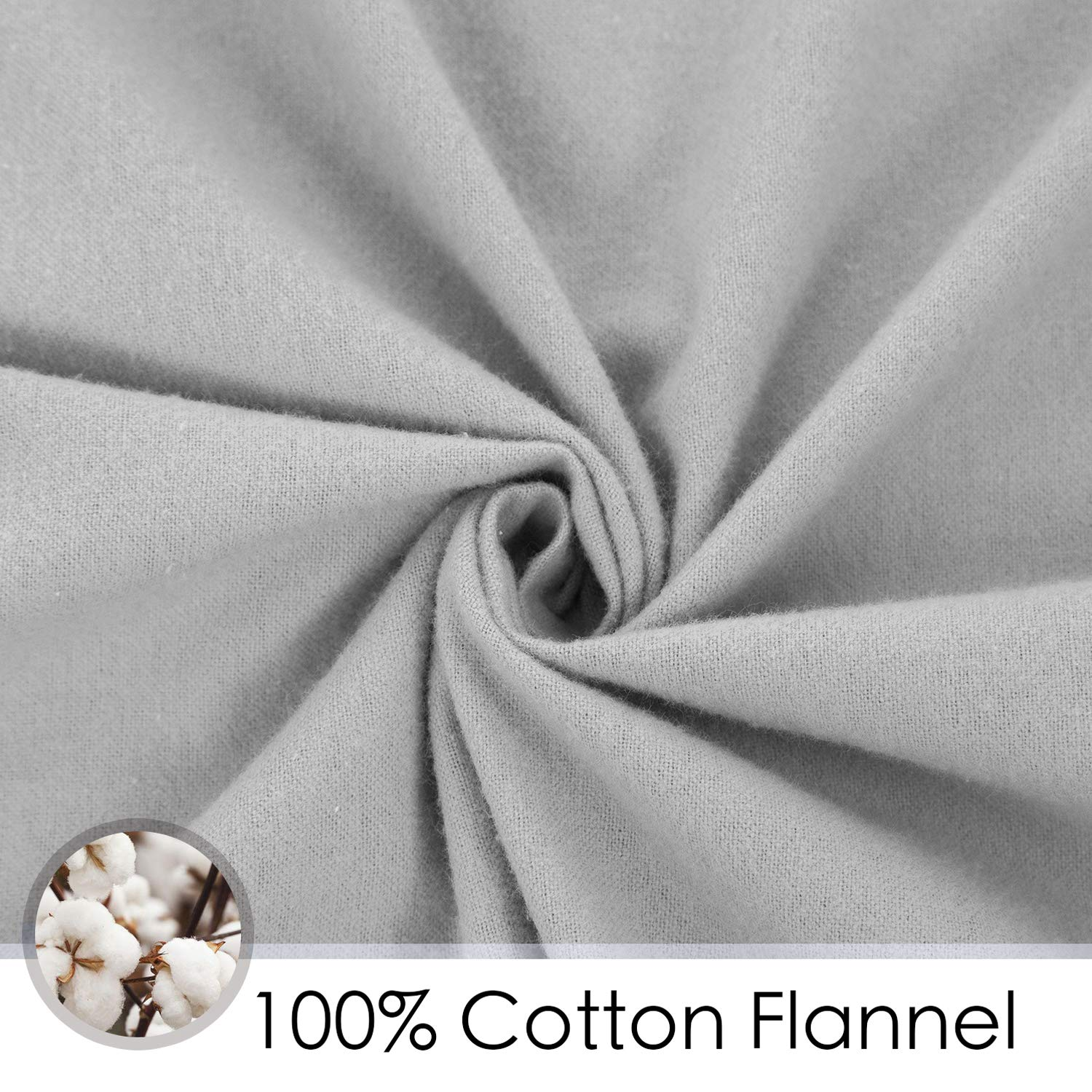 2 Piece - Cotton Flannel Crib Sheets 28 x 52in