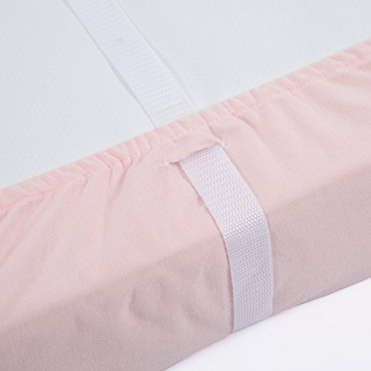 Jersey Knit Changing Pad Covers 2 PK - Light Pink & Light Gray