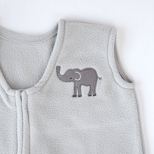 Micro Fleece Baby Sleeping Bag For 0-6 / 6-12 Months - Gray Elephant