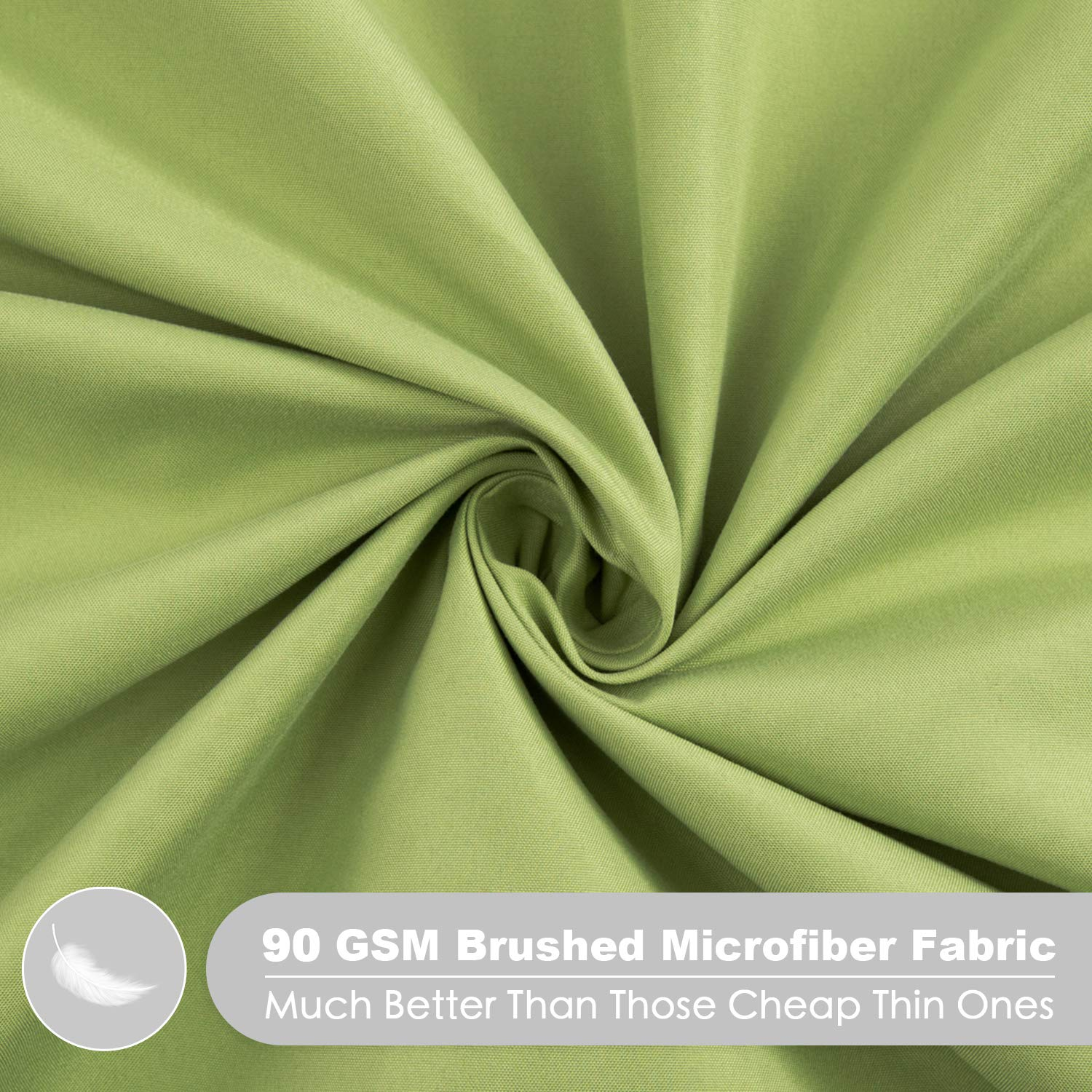 Silky Soft Microfiber Crib Sheet 28 x 52in - Pea Green