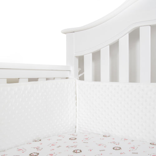 Minky Dot Baby Breathable Crib Bumper Pads