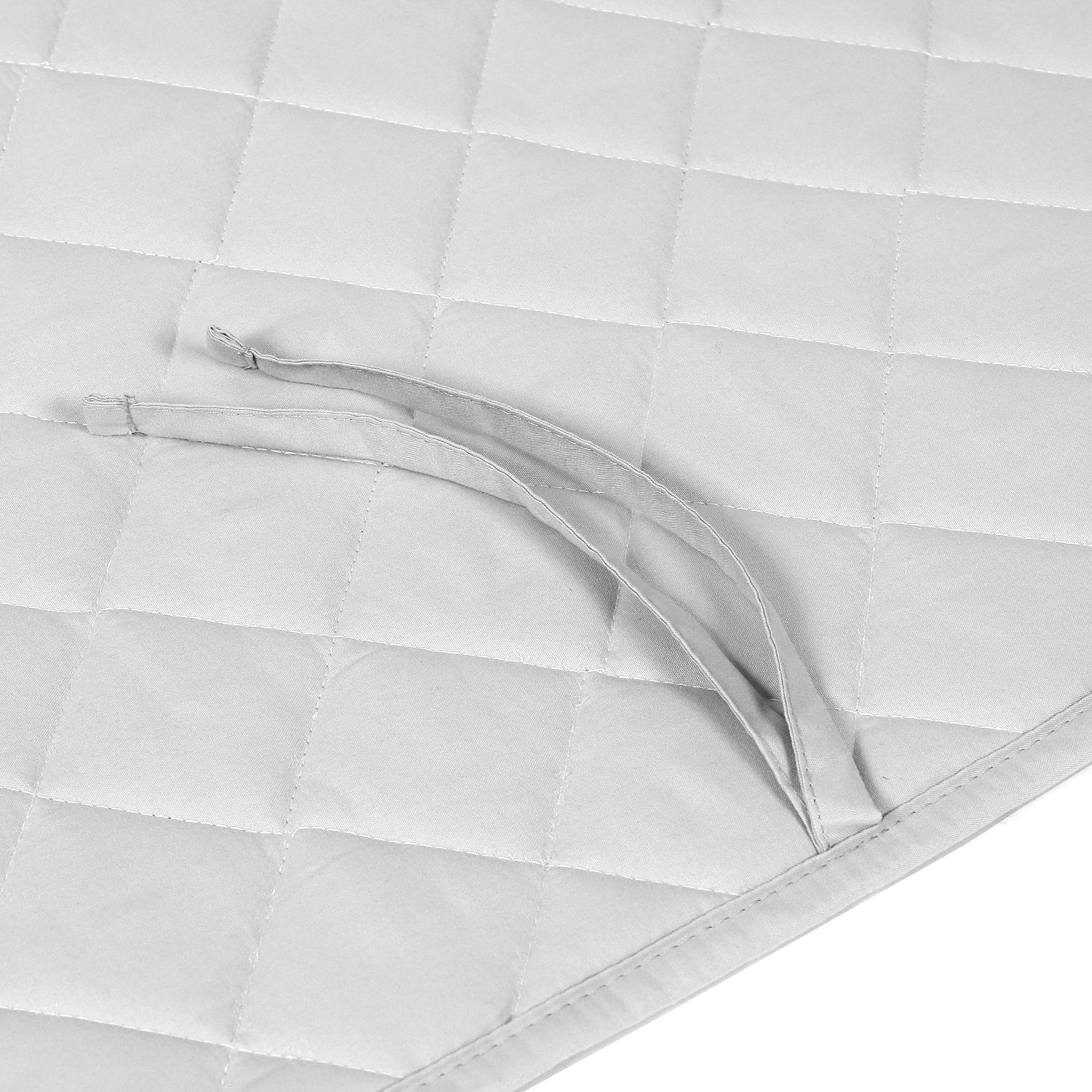 OUT OF STOCK - Microfiber Crib Bumper Quilted Pad - Gray