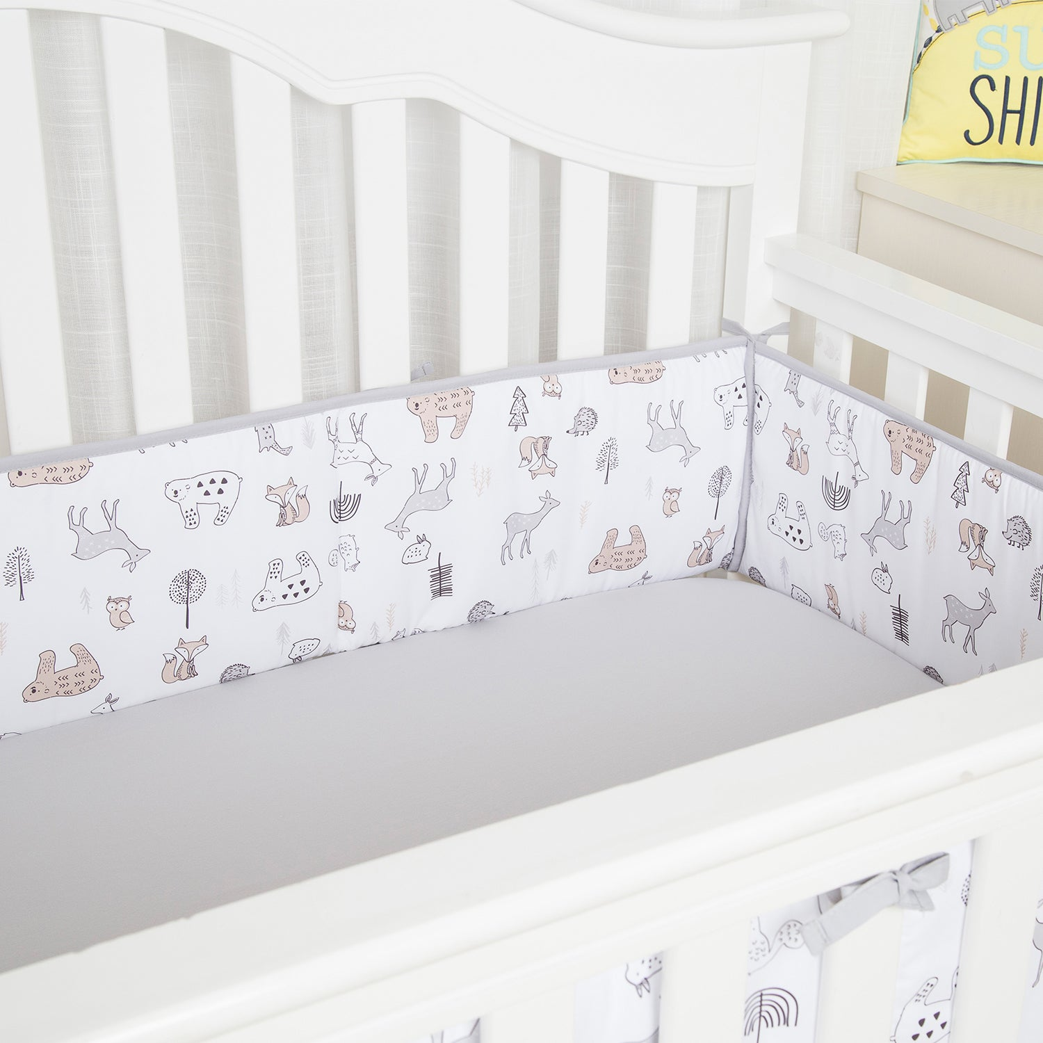 Forest Baby Breathable Crib Bumper Pads For Standard Cribs