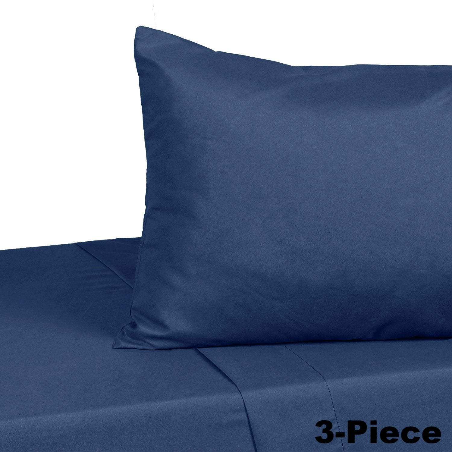 OUT OF STOCK - Soft Microfiber Twin Bed Sheets 3-Piece Set - Navy