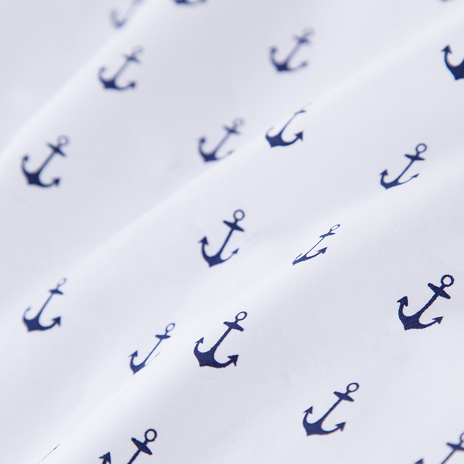 100% Cotton Crib Sheet - Navy Anchors