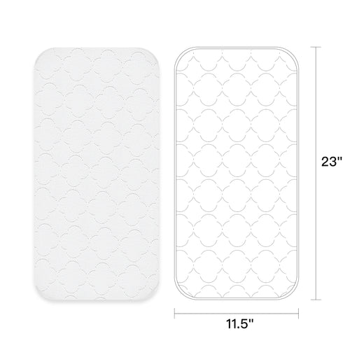 Waterproof Portable Quilted Changing Pad Liners - 3/6 PK