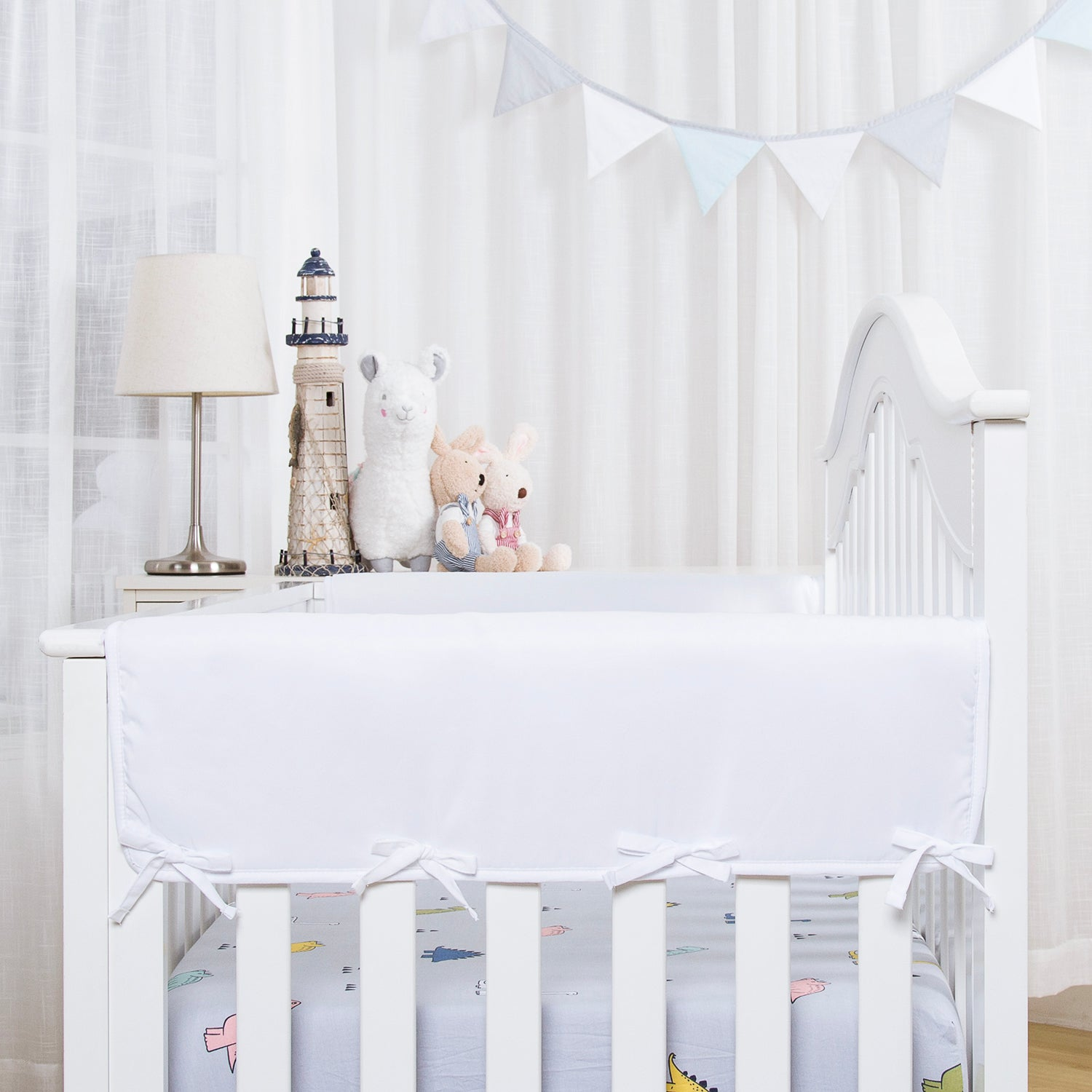 Wide Side Crib Rail Cover Protector - 5 Colors