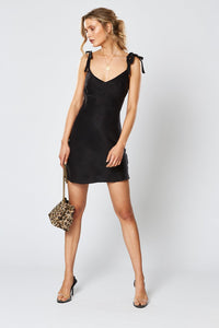 WINONA- Victoria Bow Dress- Black