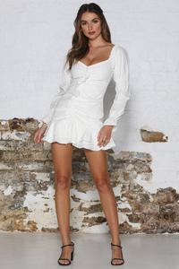 RUNAWAY- Lottie Dress- White