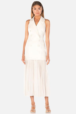 MISHA COLLECTION- Sammiah Midi Dress- Ivory