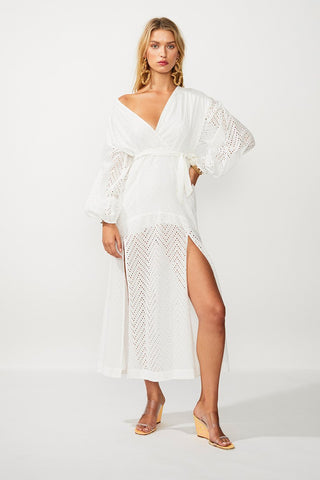 SUBOO- Goldie Wrap Dress- White