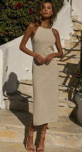 RUNAWAY- Barbados Dress- Sand
