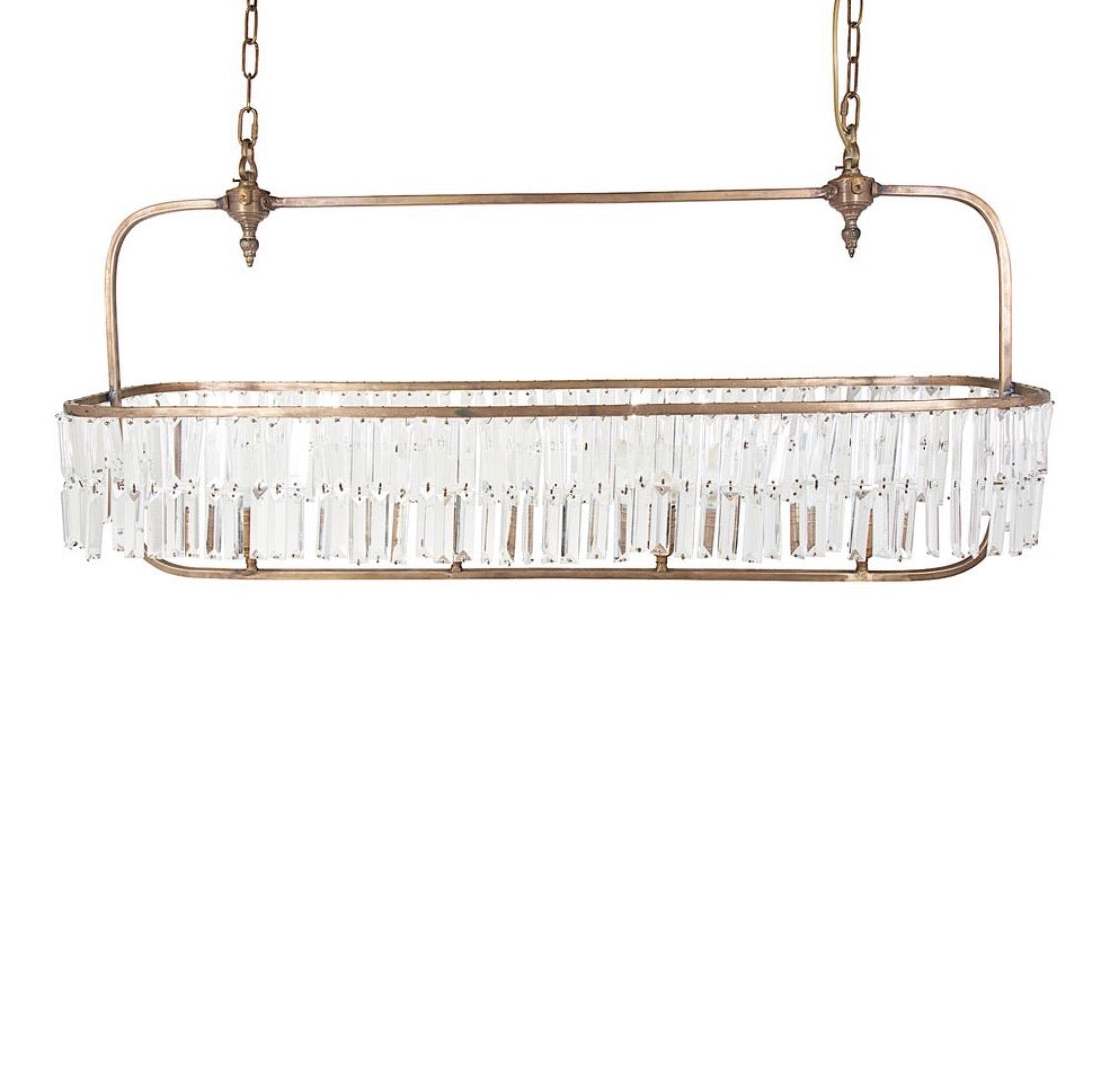 Montreal Long Chandelier- Brass