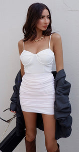 RUNAWAY- Sierra Mini Skirt- White