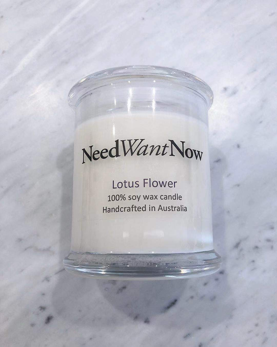 Need Want Now- Lotus Flower Candle