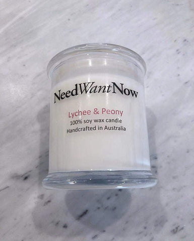 Need Want Now- Lychee & Peony Candle