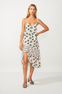 SUBOO- On The Fly Midi slip Dress- Multi Print