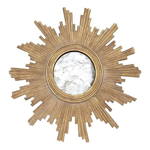 Versailles Gold Leaf Starburst Mirror