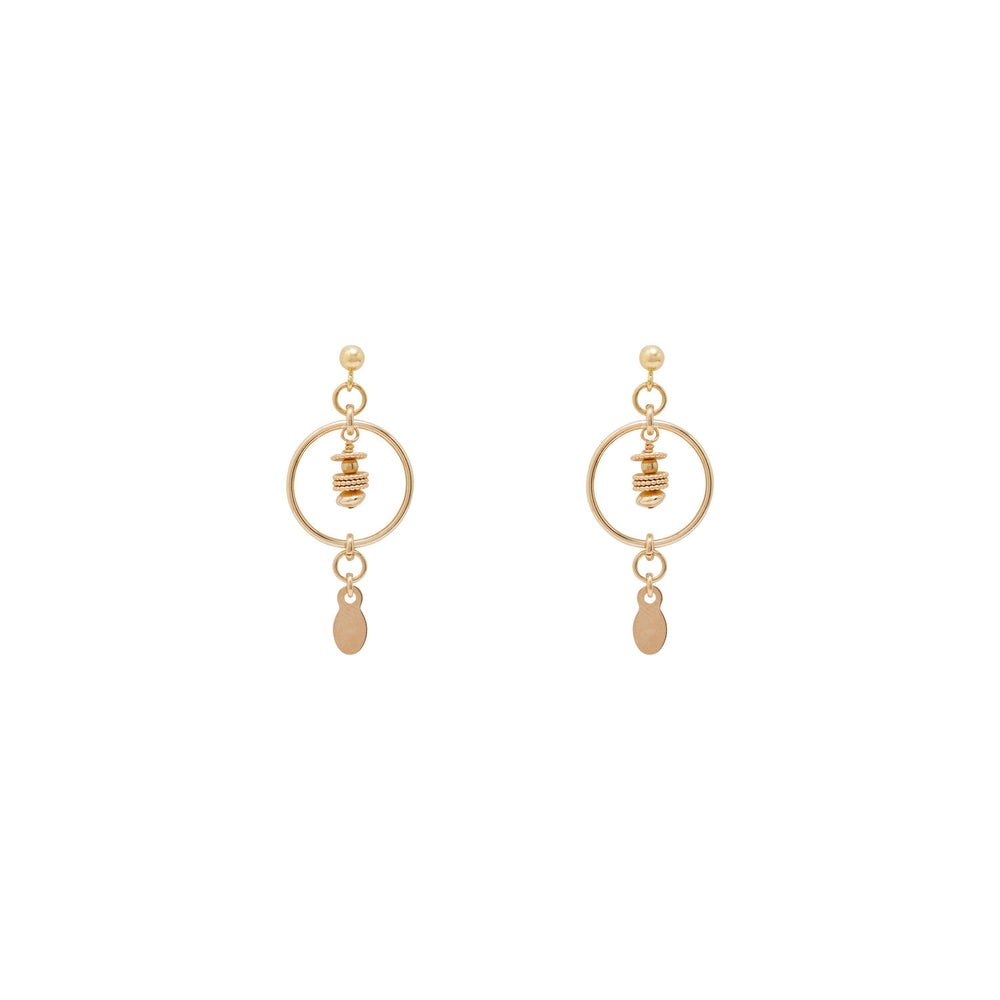 Load image into Gallery viewer, Tullie beaded Earrings Gold