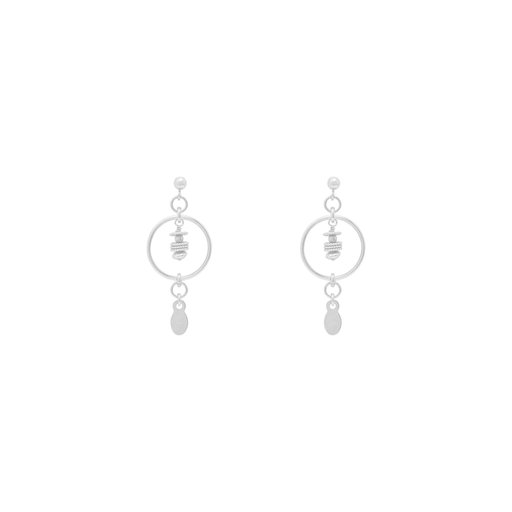 Tullie Beaded Earrings Sterling Silver